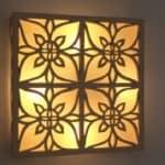 גוף תאורה ריבועי צמוד קיר, דגם פרחים מהודר - לימור בן יוסף